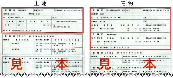 参考図:登記簿謄本